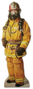 Firefighter Lifesize Standup