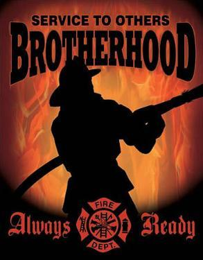 Firemen - Service to Others Brotherhood Tin Sign