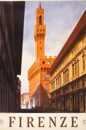 Firenze Italy Travel Vintage Ad Plastic Sign