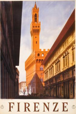 Firenze Italy Travel Vintage Ad