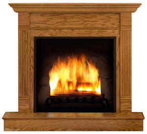 Fireplace Lifesize Cardboard Cutout