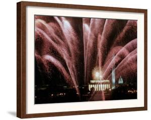 Fireworks Cascade Over the Lincoln Memorial