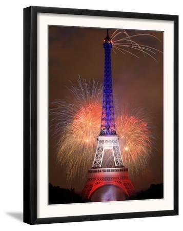 Fireworks Illuminate the Eiffel Tower