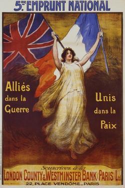 Allies Dans La Guerre Poster by Firmin Bouisset