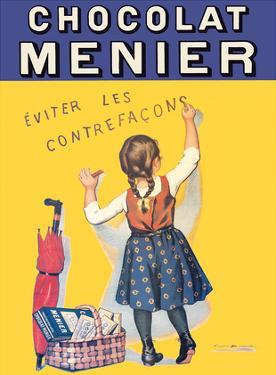 Chocolat Menier - Éviter Les Contrefaçons (Beware of Imitation) - French Chocolate Company by Firmin Bouisset