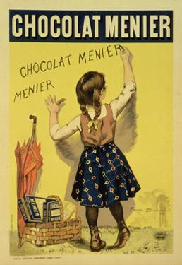 """Reproduction of a Poster Advertising """"Menier"""" Chocolate, 1893 by Firmin Etienne Bouisset"""