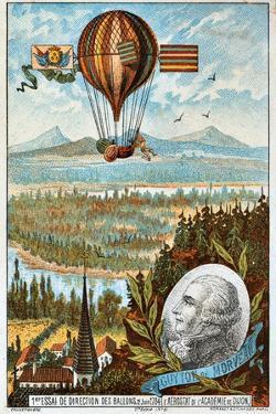 First Attempt by Guyton De Morveau to Direct a Balloon, Dijon, France, 1784