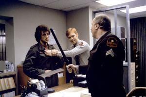 FIRST BLOOD, 1982 directed by TED KOTCHEFF Sylvester Stallone and David Caruso (photo)