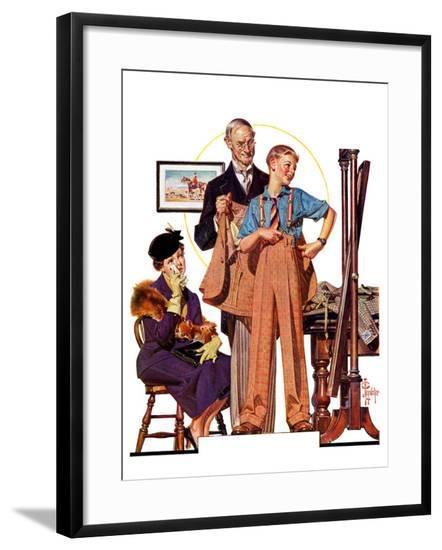 """""""First Long Suit,""""September 18, 1937-Joseph Christian Leyendecker-Framed Giclee Print"""