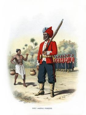First Madras Pioneers, C1890 by H Bunnett
