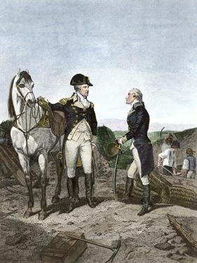 First Meeting of George Washington and Alexander Hamilton, Wearing Continental Army Uniforms