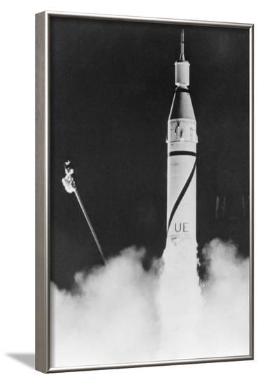 First US Satellite Launched--Framed Photographic Print