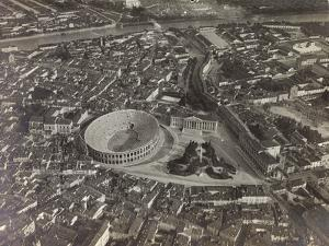 First World War: View of Verona with the Arena and the River Adige, Taken from a Blimp
