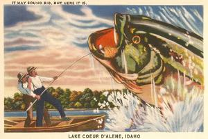 Fishing at Lake Coeur D'Alene