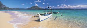 Fishing Boat Moored on the Beach, Palawan, Philippines