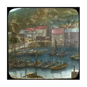 Fishing Boats in the Harbour, Polperro, Cornwall, Late 19th or Early 20th Century