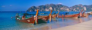 Fishing Boats in the Sea, Phi Phi Islands, Phuket Province, Thailand