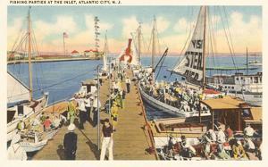 Fishing Docks, Atlantic City, New Jersey