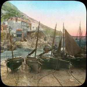 Fishing Fleet at Low Tide, Polperro, Cornwall, Late 19th or Early 20th Century