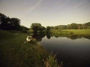 Fishing in a Peaceful Setting