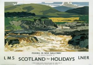 Fishing in New Galloway, LMS/LNER, c.1923-1947