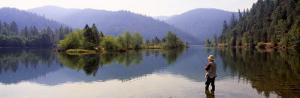Fishing, Lewiston Lake, California, USA