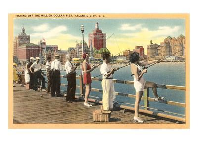 Fishing vintage photography posters at for Atlantic city fishing