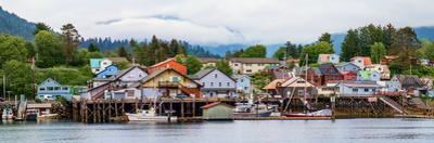 Fishing village on lakeshore, Sitka, Southeast Alaska, Alaska, USA