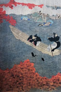 Fishing, Yukihide, Tosa School, Silk Painting, Japan, 15th Century