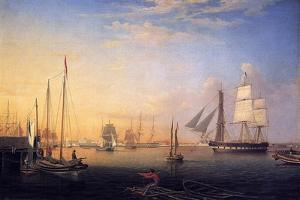 Baltimore Harbour, 1850 by Fitz Henry Lane
