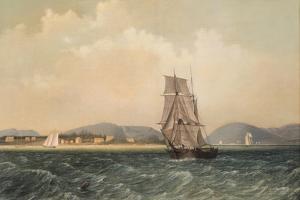 Off Mt. Desert Island, Maine, 1850 by Fitz Henry Lane