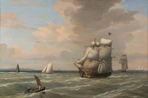 Ships Leaving Boston Harbor, 1847 by Fitz Henry Lane