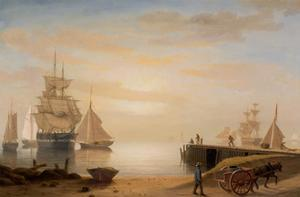 View of Gloucester Harbor, 1852 by Fitz Henry Lane