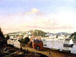 View of Norwich, Connecticut, USA, 1849 by Fitz Henry Lane