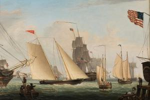 Yacht 'Northern Light' in Boston Harbor, 1845 by Fitz Henry Lane