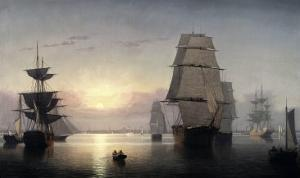 Sunset, Boston Harbor by Fitz Hugh Lane