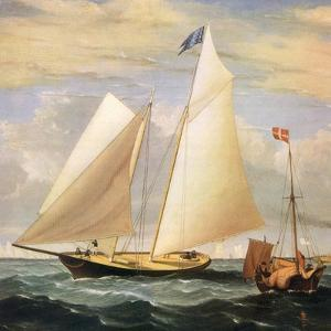 Yacht America, 1851 by Fitz Hugh Lane
