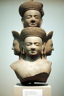 Five-Headed Bust of Shiva, Mid 10th Century