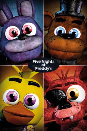 Five Nights At Freddy's- Fluffy Scary Grid