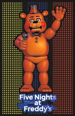 Five Nights At Freddy'S- Freddy Fazbear Blacklight Poster