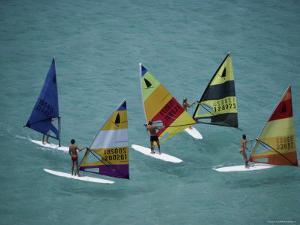 Five Windsurfers