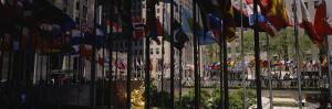 Flags in a Row, Rockefeller Plaza, Manhattan, New York, USA