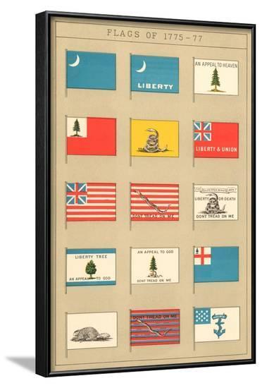 Flags of 1775-77--Framed Art Print