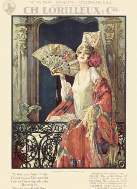 Flamenco Dancer in Exposition Poster