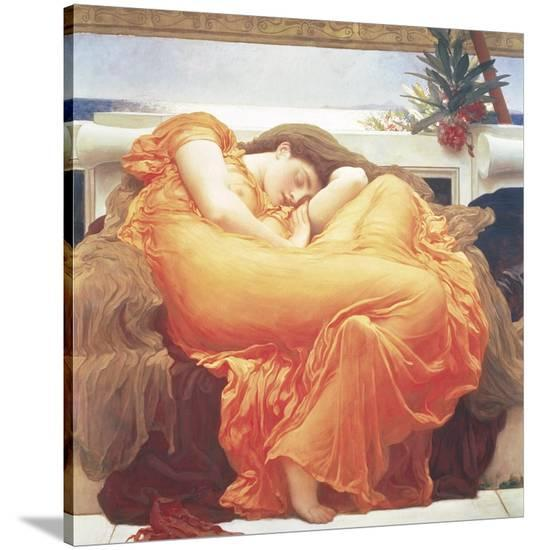 Flaming June-Frederic Leighton-Stretched Canvas