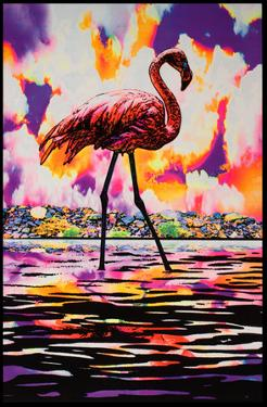Flamingo Blacklight Poster