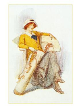Flapper with Bag of Golf Clubs