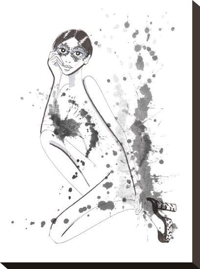 Flapper-Alison B-Stretched Canvas Print