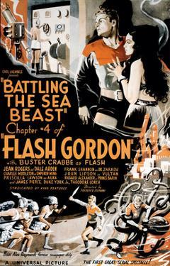 Flash Gordon, Larry 'Buster' Crabbe In 'Chapter 4: Battling the Sea Beast', 1936
