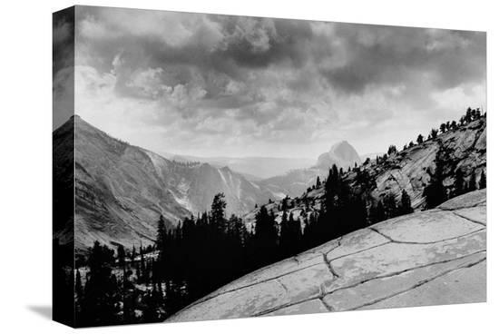Flat Rocks, Yosemite National Park, California--Stretched Canvas Print